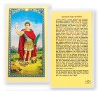 Oracion A San Expedito Laminated Spanish Prayer Cards 25 Pack