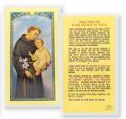 Trece Minutos A San Antonio Laminated Spanish Prayer Cards 25 Pack