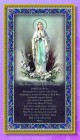 Our Lady of Lourdes Italian Prayer Plaque