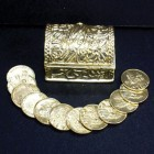 Petite Gold Tone Treasure Chest Wedding Arras Set