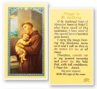 Prayer To St. Anthony Laminated Prayer Cards 25 Pack