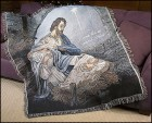 Come Let Us Adore Him Nativity Throw Blanket