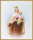 Our Lady of Mt. Carmel Gold Framed Print
