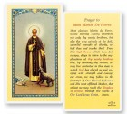 St. Martin De Porres Laminated Prayer Cards 25 Pack