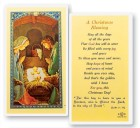 A Christmas Blessing Holy Card Laminated Prayer Cards 25 Pack
