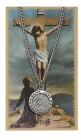 Round St. John the Evangelist Medal with Prayer Card