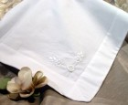 Girls Cotton Floral Hand Embroidered Baptism Blanket