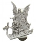 "Guardian Angel Visor Clip, Pewter - 2 1/4""H"
