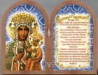 Our Lady of Czestochowa Diptych Standing Prayer Plaque