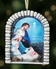 Holy Family Christmas Ornament With Ribbon