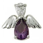 Angel Pin- February Birthstone