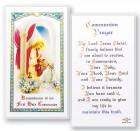 Communion Girl Laminated Prayer Cards 25 Pack
