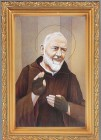 St. Pio Antique Gold Framed Print