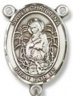 St. Christina Sterling Silver Rosary Centerpiece