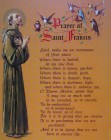 "Prayer of St. Francis Print, Cardstock - 10""H"