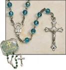 Aqua Rosary - 4 per order