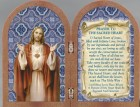Sacred Heart of Jesus Diptych Standing Prayer Plaque