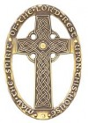 Celtic Design May The Spirit of the Lord Rest Upon This House Wall Cross - 3 inches