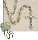Pearl Silver Plated Rosary - 4 per order