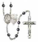 Men's St. Joseph of Cupertino Silver Plated Rosary