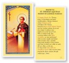 Prayer To St. Thomas Aquinas Laminated Prayer Cards 25 Pack