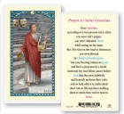 St. Genesius Laminated Prayer Cards 25 Pack