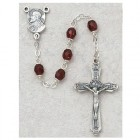 Sacred Heart of Jesus 5mm Garnet Rosary