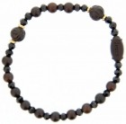 Jujube Rose Wood Rosary Bracelet - 6mm [RB3929]