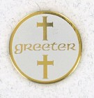 Greeter Lapel Pin (12 pieces per order)