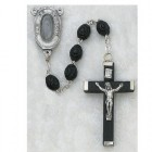 Our Lady of Lourdes with Water Black Rosary