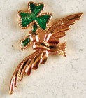 Dove with Shamrock Lapel Pin (12 per order)