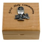 First Communion Maple Wood Keepsake Box