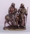 Holy Family Flight to Egypt Statue in Bronzed Resin - 10.5 inch - Bronze