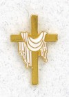 Cross with White Robe Lapel Pin (12 pieces per order)