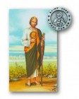 St. Jude Lapel Pin with Holy Card