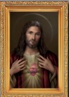 Sacred Heart of Jesus Antique Gold Framed Print