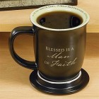 Man of Faith Mug with Matching Coaster
