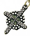 Wheat and Grapes Cross Pendant [TCG0384]