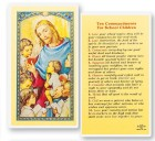 Ten Commandments School Kids Laminated Prayer Cards 25 Pack