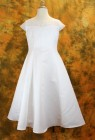 Plus Size First Communion Dress with Satin A-Line Waist and Embroidered Beadwork