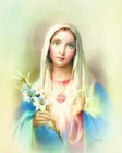 Immaculate Heart of Mary Print - Sold in 3 per pack