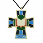 Lector or Reader Cross Pendant