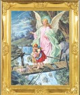 Guardian Angel Gold Leaf Framed Print