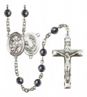 Men's St. Cecilia Marching Band Silver Plated Rosary