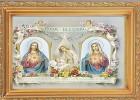Baby Room Blessing Antique Gold Framed Print