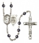 Men's St. Brendan the Navigator Navy Silver Plated Rosary
