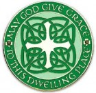 Celtic House Blessing Wall Plaque - 4.25 inches