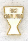First Communion White Lapel Pin (12 pieces per order)
