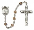 St. Francis of Assisi Sterling Silver Heirloom Rosary Squared Crucifix
