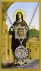 Round St. Veronica Pewter Medal with Prayer Card